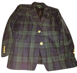 Ralph Lauren Linen Summer Plaid Jacket Linen Jacket Summer Jacket Blue Jacket Green Jacket Dress Up Jacket Casual Jacket Navy Navy green Blazer
