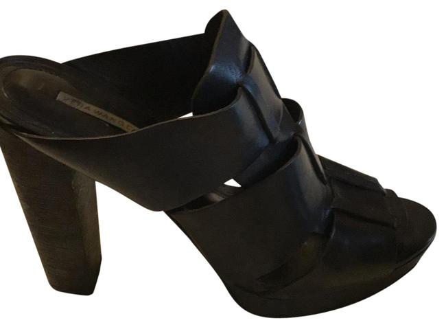 Item - Black Platforms Mules Sandals Size US 8.5 Regular (M, B)