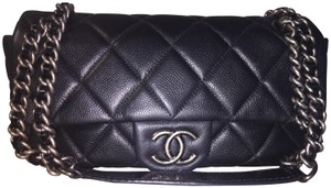 Chanel Quilted Lambskin Silver Silver Hardware Shoulder Bag