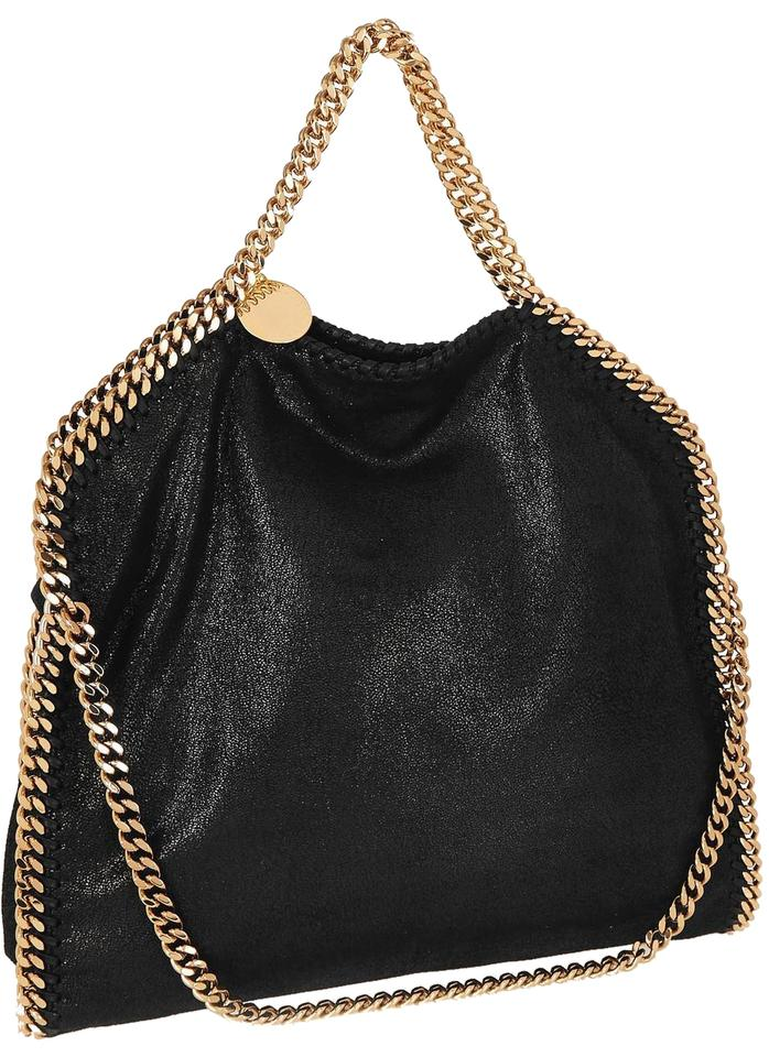 06e109b4efe7 Stella McCartney Medium Falabella Black Faux Leather Shoulder Bag ...