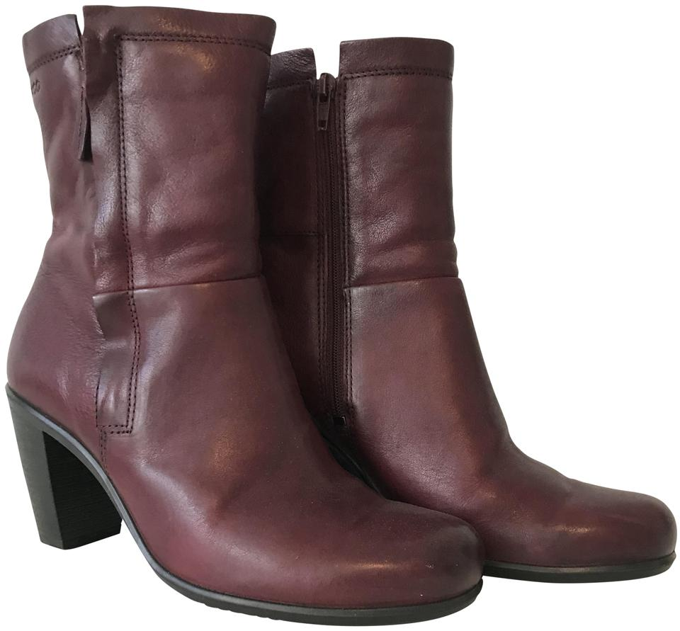 c1508ee4db6 Ecco Morillo (Dark Red) Touch 75 Zip In Boots Booties Size EU 38 ...