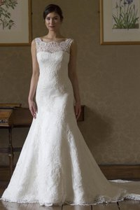 Augusta Jones Ivory Lace Sofia Formal Wedding Dress Size 10 (M)