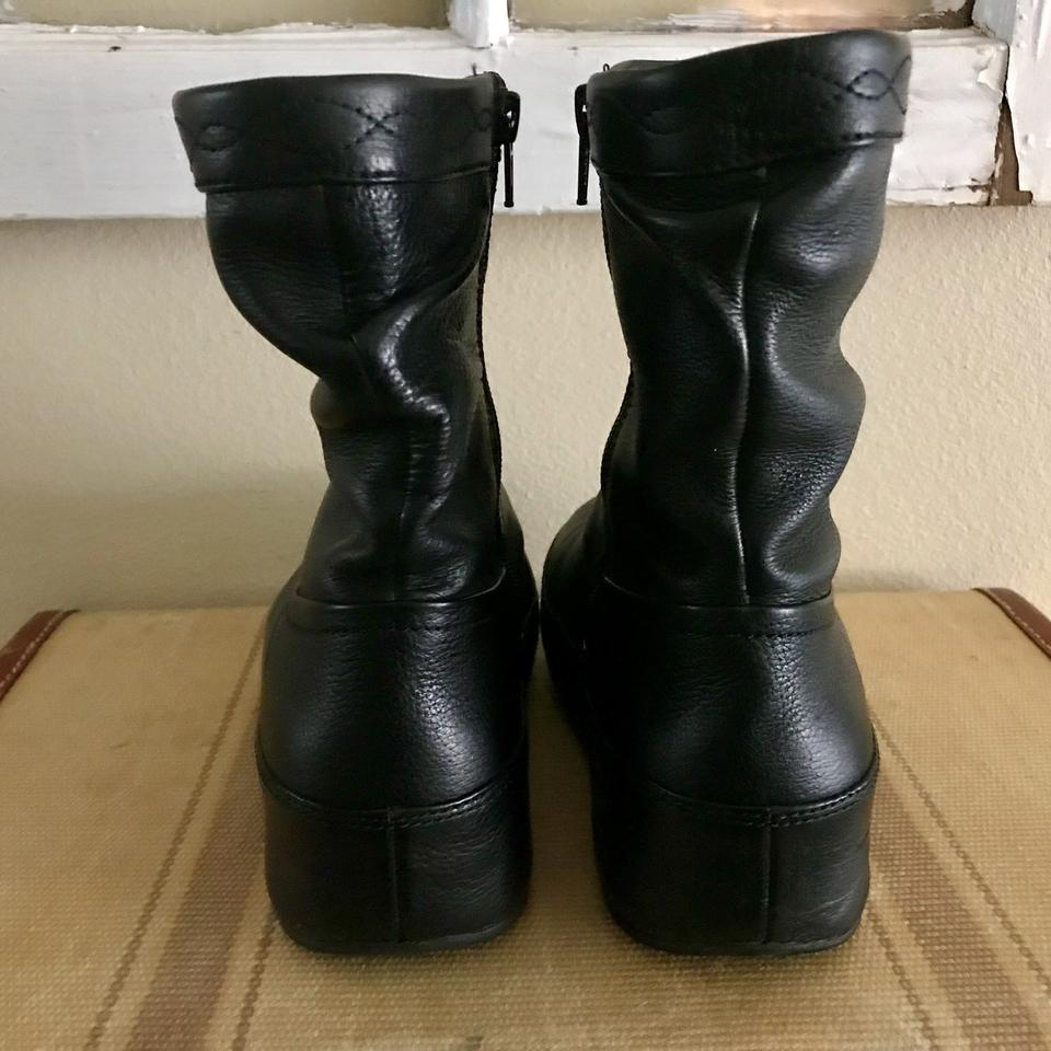 348dc2a06c57 FitFlop Black Crush Zip Ankle Boots Booties Size US 7 Regular (M