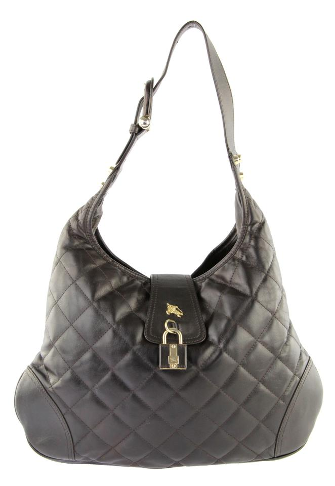3755cde19531 Burberry Quilted Brown Leather Hobo Bag - Tradesy