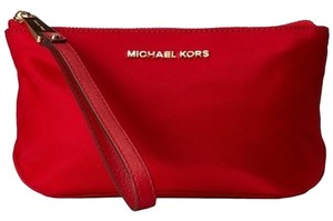 Michael Kors Chili/Gold Clutch