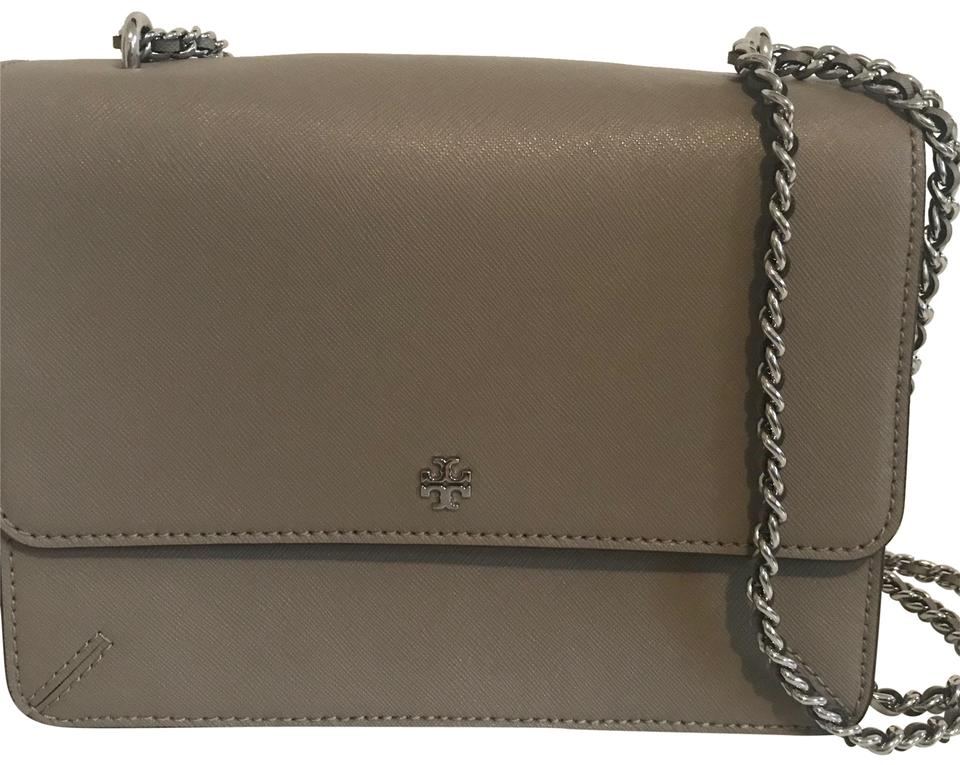 Tory Leather Gray Cross Burch Shoulder Body Bag Saffino gBaHgrZ