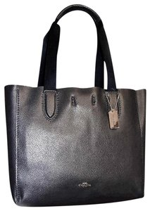 Coach Gold Hardware Suede Inside Not Lined Mfsrp Tote in Black