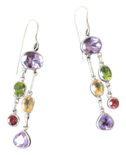 Other Balinese Silver and Gemstone Earrings