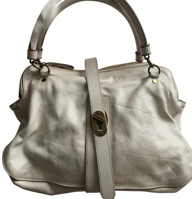 Item - White with Rusted Copper Hardware Leather Tote
