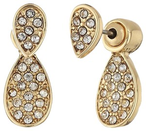 Rebecca Minkoff Gold & Pave Jacket Earrings