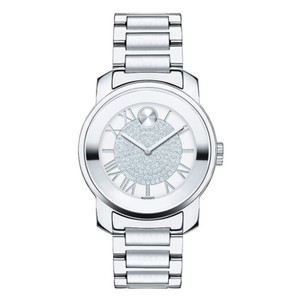 Movado Movado Silver Stainless Pave Crystal Bold 3600254 Watch