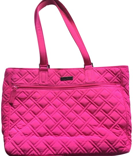 Vera Bradley Women S Work Tote Fuchsia Quilted Laptop Bag