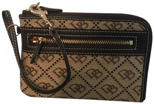 Dooney & Bourke Beige & Brown Clutch