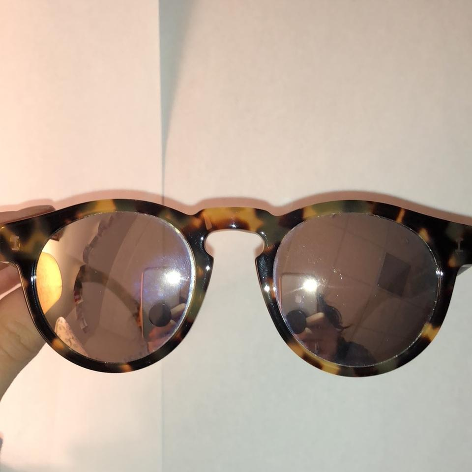 18668052444 Illesteva Tortoise with Mirrored Lenses Capri Sunglasses - Tradesy