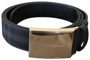 Burberry Burberry Check Belt, Charcoal/Black (for Men)