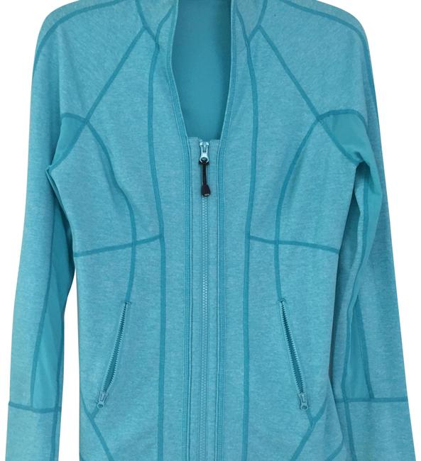 Item - Aqua Turquoise Athleisure Jacket Activewear Top Size 4 (S)