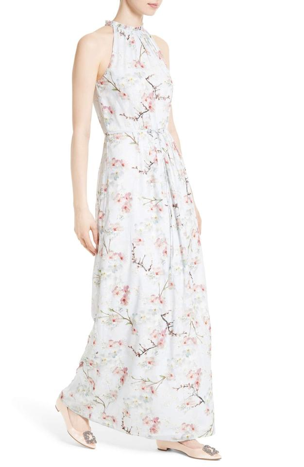 37bf7d27c310 Ted Baker Grey Light Elynor Oriental Bloom Print Pleated Long Casual Maxi  Dress Size 10 (M) - Tradesy