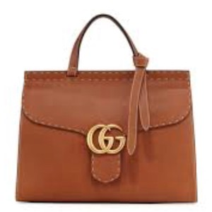 Gucci Marmont Gg Tote Nut Monogram Satchel in brown