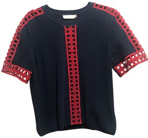 Tory Burch Top Navy blue and red details
