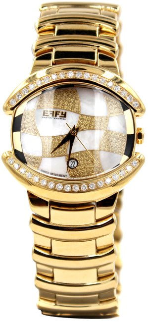 Item - Gold Diamond 0.65 Tcw Mother-of-pearl Dial Unisex Watch