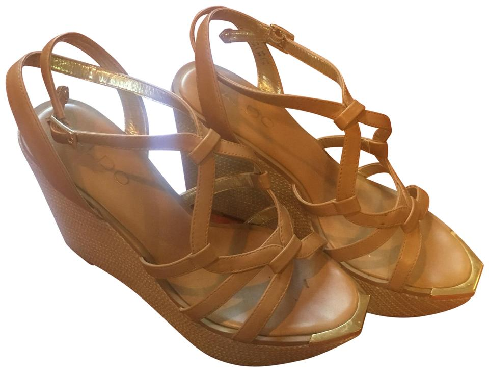 07bd8145f148 ALDO Nude Wedges Size US 8 Regular (M