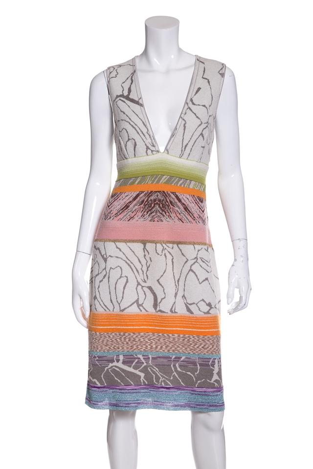 Missoni Multicolor Knit V-neck Short Casual Dress Size 8 (M) - Tradesy 53dfd8aaa