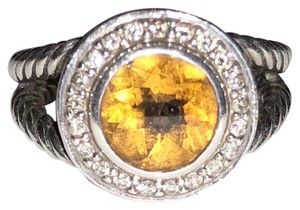 David Yurman David Yurman citrine and diamond cerise ring
