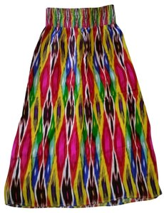 Anthropologie Tribal Abstract Maxi Skirt Multi