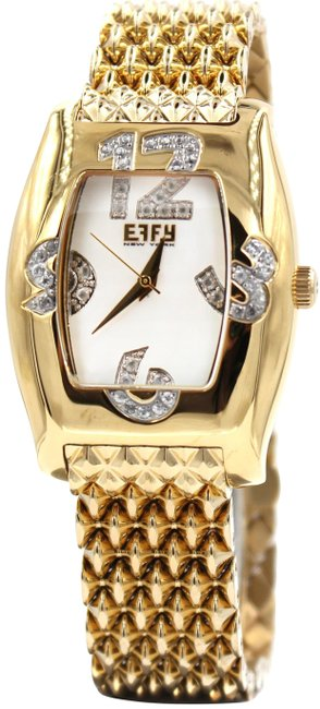 Item - Gold Diamond 0.8 Tdw Mother-of-pearl Dial Unisex Watch