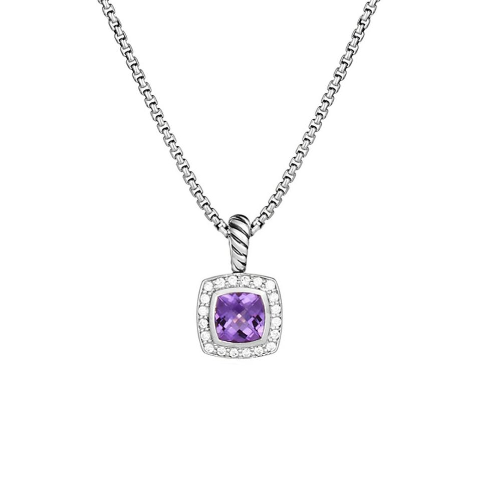 short sterling diamond pendant quality i in nehzy heart item shaped necklace clavicle accessories on wild silver fashion high crystal from jewelry ms cute chain purple pendants love paragraph you