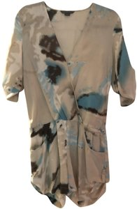 A|X Armani Exchange Tie Dye Silk Dress