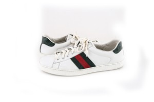 Gucci * White Ace Leather Sneaker Shoes