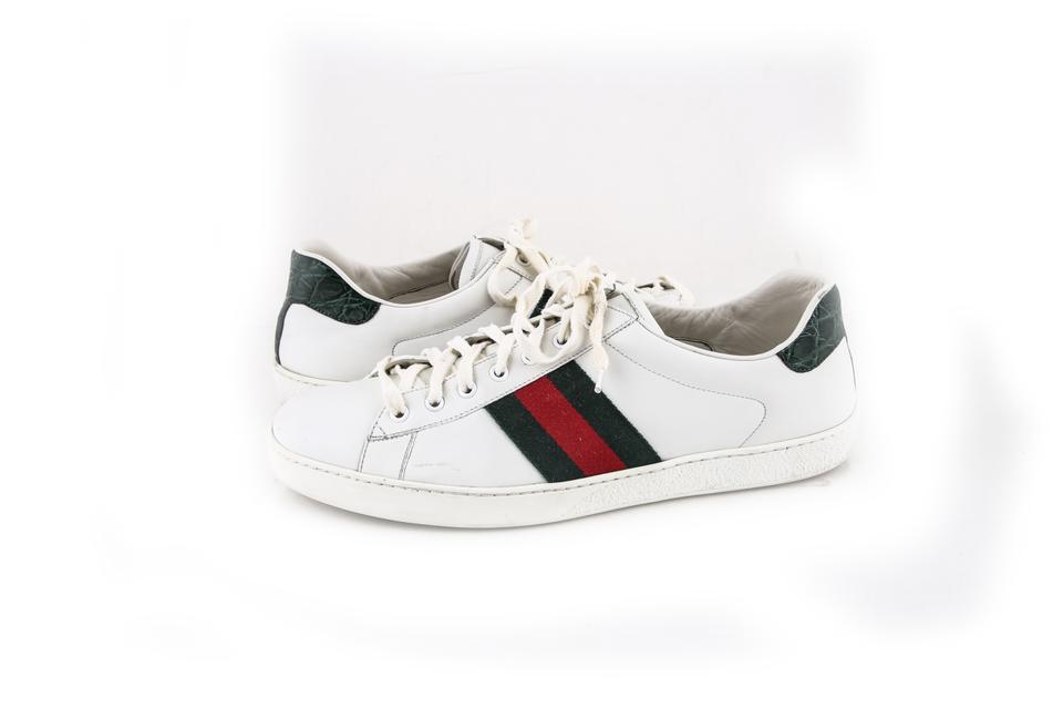 buy online 0af15 e01c2 Gucci   White Ace Leather Sneaker Shoes