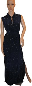 Navy and White Maxi Dress by Iris & Ink