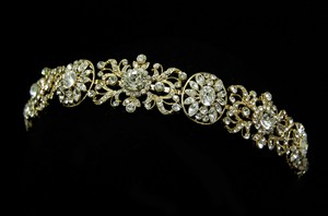 Intricate Gold Plated Wedding Headband