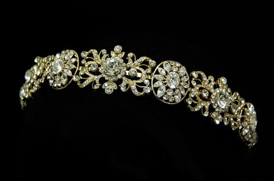 Gorgeous Elena Designs E333 Gold Wedding Headband