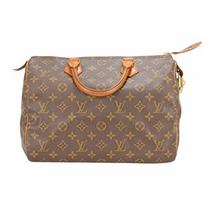 Louis Vuitton Speedy 30 Monogram Hang Lv Tote in brown
