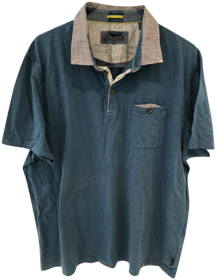 Ted baker teal mens polo tee shirt size 8 m tradesy for Mens teal polo shirt