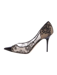 Jimmy Choo Lace Amika Black Pumps