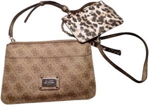 Guess Monogrammed Removable Straps Cross Body Bag