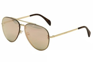 Cline NEW Celine CL 41391S 41391/S Gold Mirrored Pilot Sunglasses
