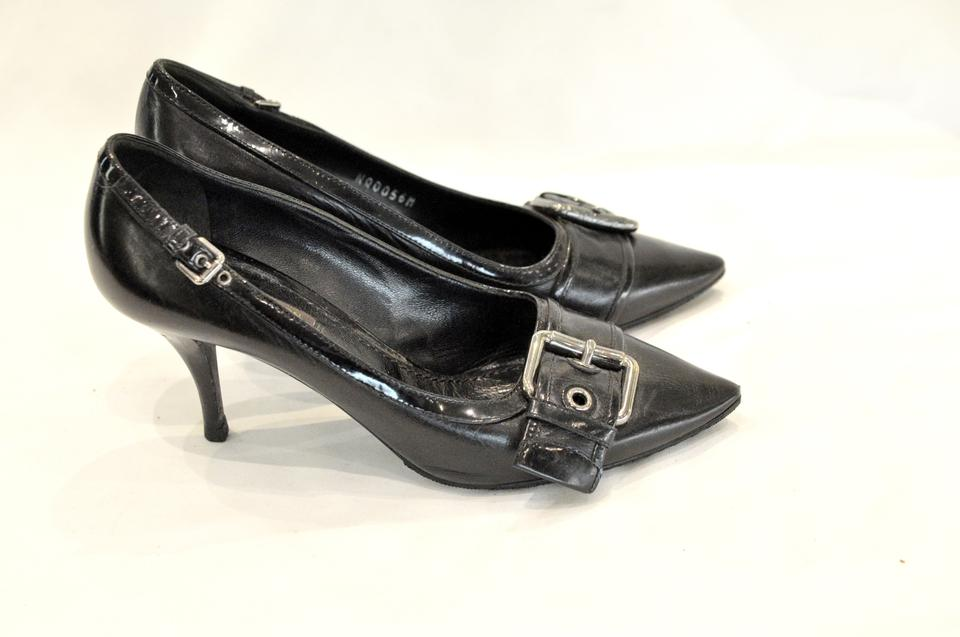 75cd9c68376f Louis Vuitton Black Pointed-toe Leather Pumps Size EU 36 (Approx. US ...
