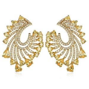 Other Gold & Yellow Earrings With Swarovski Crystals