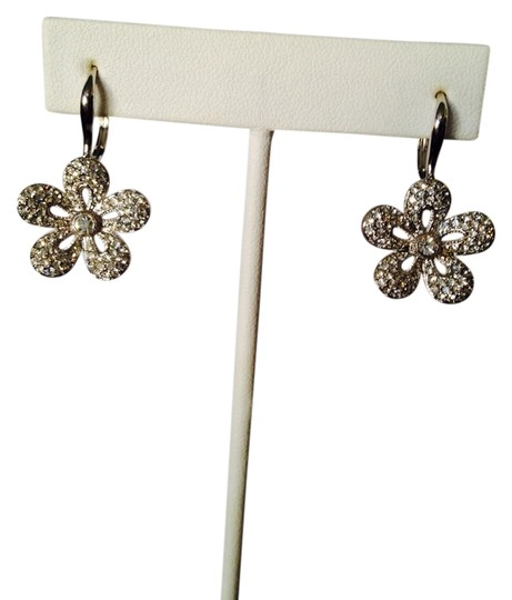 JS Collections NWOT Pave Cubic Zirconia Flower In Sterling Silver