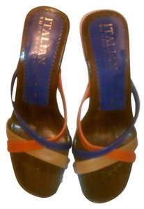 Other Peach, Tan, & Blue Strap sandals, open back Sandals