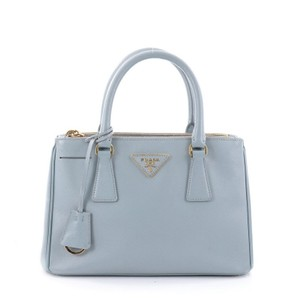 Prada Double Zip Lux Tote in light blue