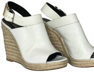 Balenciaga White Wedges