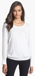 Joie White Cashmere Silk Neutral Sweater