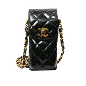 Chanel Vintage Messenger Patent Leather Cross Body Bag