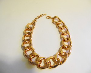 "R.J. Graziano HSN R. J. Graziano High Polish Rosetone 16"" Bold Oval Chain-Link Necklace with 3"" Extender"